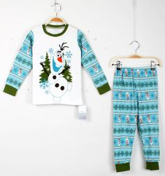 Olaf Pajamas Children Cotton Pyjamas Long Sleeve + Pants Suits Pajamas Girl Little Girls Christmas Pajamas From Michaelshenzhen, $48.24| Dhgate.Com