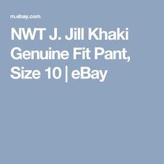 NWT J. Jill Khaki Genuine Fit Pant, Size 10 | eBay