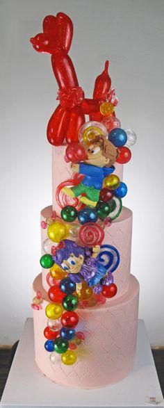 Blown sugar balloon dog!! Kids cake bubbles sugar candy fantasy fun!