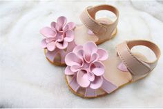 2015 Toddler Girls Leather Flower Closed-toe Sandals