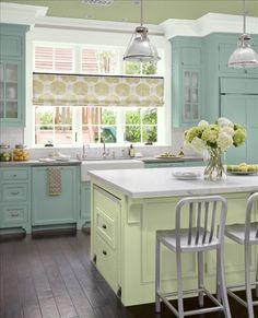 Serene kitchen colors
