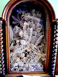 Elisa Emma King's Botanical Display - done for the Crystal Palace in 1851, this is an exquisite collection of skeleton leaves, fruits, and flowers which took her from March 1850 to January 1851, in her late 20s, to create.