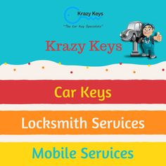 Krazy Keys - The Car Key Specialists offers Car Keys, Security Screens and Locksmith Services in Perth. Our mobile service vehicles available every day! Please contact us for a quote for suburbs outside this area. We would love to help you.