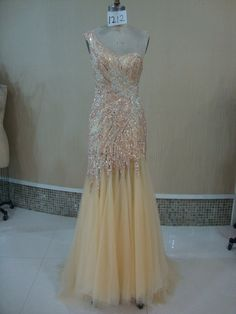 customized  beautiful full crystal oneshoulder by LinvinaBridal, $564.00