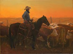 Bill Owen ~ The Cowboy Artist Bill Owen ~ L& cow-boy Cowboy Horse, Cowboy And Cowgirl, Native American Art, American Artists, Cowboy Artwork, Real Cowboys, Southwest Art, Painting Inspiration, Painting & Drawing