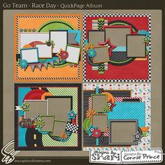 Race Day - QuickPage Album :: 12x12 Quick Pages :: Hybrid, Quickpages & Printables :: SCRAPBOOK-BYTES