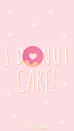 Pink Girl Pastel Donut Love iPhone Home Wallpaper @PanPins