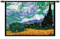 Wheatfield with Cypresses, c.1889 Wall Tapestry by Vincent van Gogh at Art.com