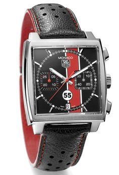 Tag Heuer & The Porsche Club Of America Team Up For Limited Edition Monaco Watch-watch Tag Heuer Monaco, Fine Watches, Sport Watches, Cool Watches, Wrist Watches, Men's Watches, Swiss Army Watches, Luxury Watches For Men, Beautiful Watches