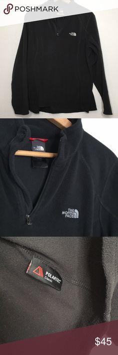 The north face polartec fleece 1 4 zip sweater L Classic north face black 1 07794613c7415
