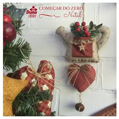 Esse regador decorativo para o Natal também vai ser ensinado no curso Começar do…