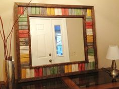 Handmade Reclaimed Wood & Bead Board Tile Mirror.. $225.00, via Etsy.