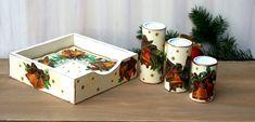 Serwetnik i świeczniki kpl. dzwonki Decorative Boxes, Xmas, Home Decor, Decoration Home, Room Decor, Christmas, Navidad, Noel, Home Interior Design