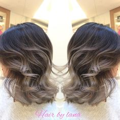 """Here again , grey Ombre work with short hair. Natural sunlights exfect For Oct and Nov app pls text : 604 377 2746 Lana #beautifinder #guytang…"""