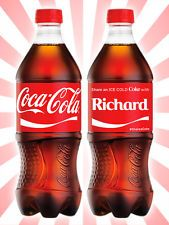 Coca-Cola Share a Coke with Richard Collectible Rare Unopened Red Bottle 20 OZ