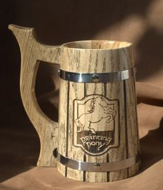 Other – The Prancing Pony Personalized wooden Beer Mug – a unique product by LyubovLyubov on DaWanda
