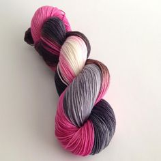 Hand Dyed Yarn Te Amo Merino Nylon Sock Yarn by aVividYarnStudio