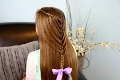 Waterfall Twists into Mermaid Braid and more Hairstyles from CuteGirlsHairstyles.com