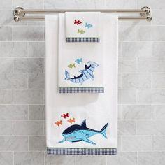 Shark Bath Towel Collection #Shark #Bath #Towel #Collection @Oasis Towels