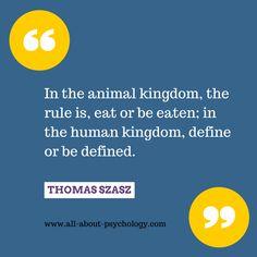 Powerful quote by Thomas Szasz.  #MentalIllness #psychiatry #Psychology