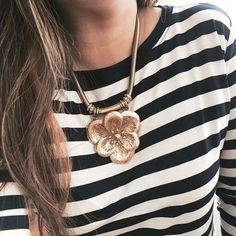 Stripes & flowers? Don't mind if we do! Bloom Necklace by Stella & Dot