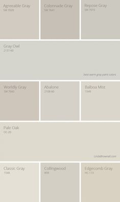 11 Greatest Best Warm Gray Paint Colors for Any Room in Your House – ClaytonBrothers Interior Paint Colors For Living Room, Room Paint Colors, Exterior Paint Colors, Exterior House Colors, Paint Colors For Home, Paint For House, Neutral Living Room Paint, Behr Paint Colors, Exterior Shutters