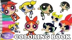 Powerpuff Girls Coloring Book Compilation 2 Buttercup Bubbles ...