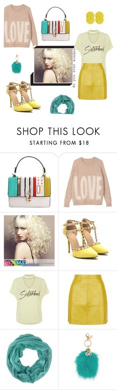 """""""So Cute"""" by fabulous-monsters ❤ liked on Polyvore featuring Hush, WigYouUp, Sophie Hulme and Uncommon Matters"""