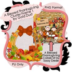Gold Dust: A Blessed Thanksgiving Cluster Frame Freebies