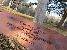 Tree Swing Housewarming gift engraved w/ a beautiful quote and the date they moved in. Love this!!