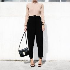 A Sweater, Loose Trousers, and Heels