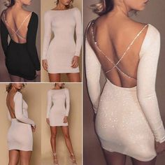Our selection of short dresses, along with trend-setting looks, casual, official. Homecoming Dresses Tight, Hoco Dresses, Cute Dresses, Casual Dresses, Short Tight Dresses, Xmas Dresses, Tight Long Sleeve Dress, Mini Dresses, Top Fashion
