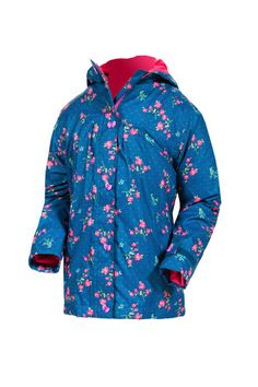 Target Dry Girls Heidi Jacket - Denim Ditsy Print Girls Lightweight Summer Rain Jacket Chase away the rainy summer blues with this lightweight floral