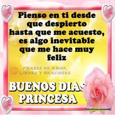 Frases de buenos días- Buenos días princesa