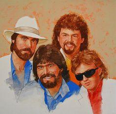 It's Country 3 - Alabama by Cliff Spohn ~ acrylic on board Play That Funky Music, Sales Image, Celebrity Portraits, Buy Art Online, Art Auction, Portrait Art, Medium Art, Alabama, Illustrators
