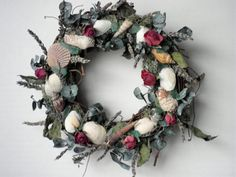Seashell Wreath Moss Covered Grapevine With by AngelsNEverlastings, $29.00
