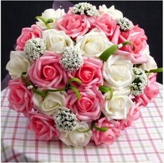 Cheap 2016 Wedding Accessories Bridal Bouquet Pink Red Purple Artificial Wedding Flowers Buque De Noiva High Quality