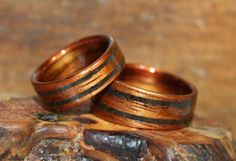 Chris and Nadia from Australia commissioned Touch Wood Rings made of Hawaiian Koa wood with Lava Rock inlays.
