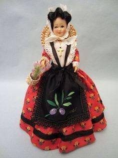 French Nîmes costume doll, folk doll, vintage