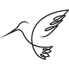 Hummingbird Outline - Bing images