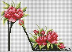 παπούτσια λουλούδι (καθεστώς για κέντημα)