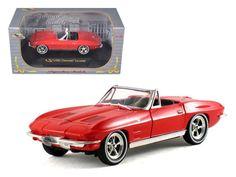 1963 Chevrolet Corvette Convertible Red 1/32 Diecast Model Car by Signature Models