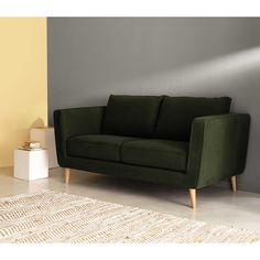 2/3 seater Kendo fabric sofa in khaki Nils | Maisons du Monde