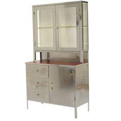 """Vintage Steel """"Hoosier"""" Cabinet"""