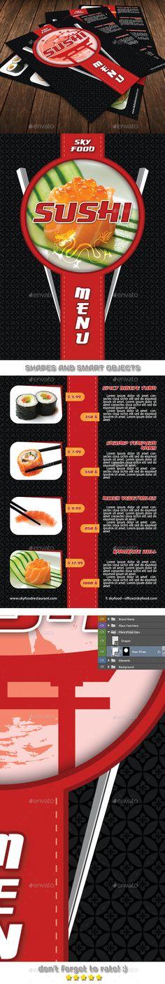 Sushi Restaurant Menu Door Hanger V1 Pinterest Sushi restaurants