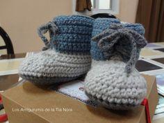 zapatitos crochet https://www.facebook.com/LosAmigurumisDeLaTiaNora/