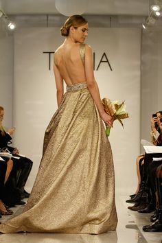 do you have the brass to go gold? http://www.weddingchicks.com/2013/12/25/theia-white-fall-2014/