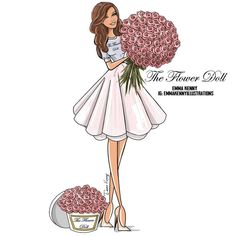 The Flower Doll by @emmakennyillustrations| Be Inspirational ❥|Mz. Manerz: Being well dressed is a beautiful form of confidence, happiness & politeness