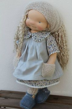 """Tiphaine 18"""" OOAK Waldorf inspired doll"""