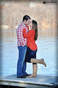 Krista & Todd's November 2014 #engagement #portrait at White Meadow Lake!!! (photo by deanmichaelstudio.com) #love #fall #engaged #photography #deanmichaelstudio